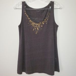 Eileen Fisher XS 100% linen Embellished Tank Top